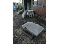 FREE: Irregular concrete slabs