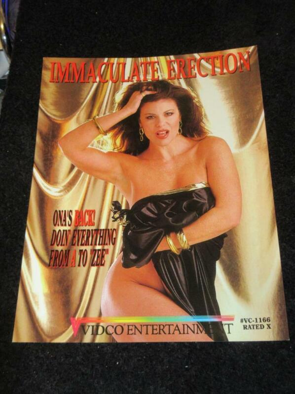 ONA ZEE PROMO AD SLICK-Immaculate/Vidco Entertainment 1992