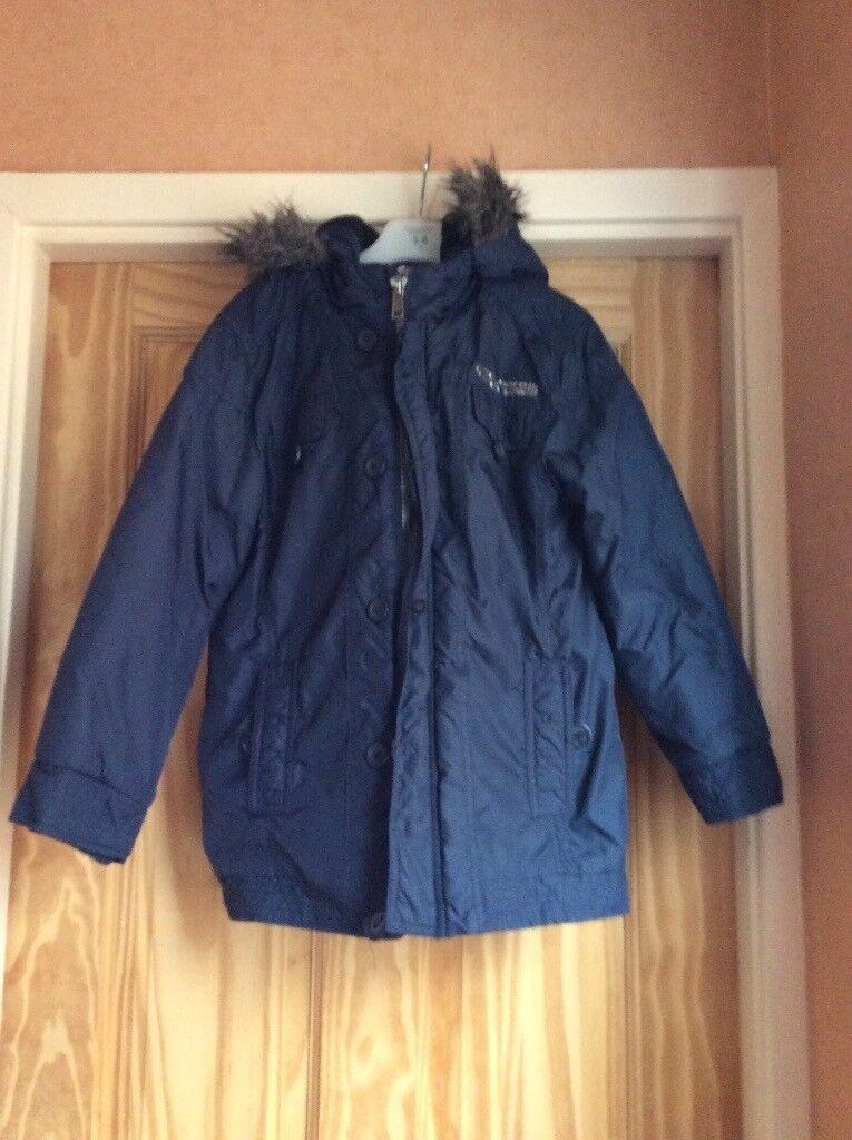 La Redoute Boy's Age 8 Navy Blue Winter Coat