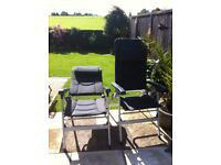 Isabella Thor Chairs x2 Grey in colour excellent condition