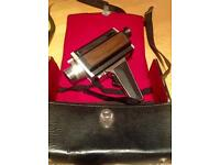 Old vintage film camera with case