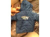 100% genuine timberland boys coat jacket navy blue