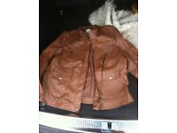 Debenham's Casual club faux leather jacket size 20