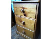Pair of Solid Wood Bedside Table Cabinets Night Stands with Drawers / Can Deliver