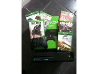 Xbox one console bundle and 6 games 500gb go with controller cod call of duty black ops halo boxed