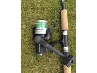 B-SQUARE CONFOSPIN 230 Fishing Rod with Reel (no case)