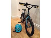 Boys 16 '' B Twin decathlon bike pirabike nearly new , excellent condition