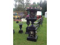 Large heavy cast iron urn (garden patio furniture)