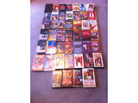 46 VHS Pre-recorded cassette tapes