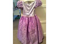 Girls deluxe rapunzel dress up costume age 7-8