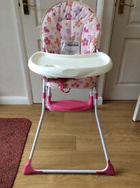 Baby -start butterfly garden high chair