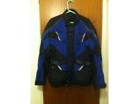 Buffalo Motorcycle Jacket Large Black/Blue