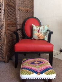 Gorgeous red armchair
