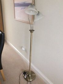 Brass effect floor lamp