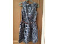 Next Girl Blue Ditsy Dress