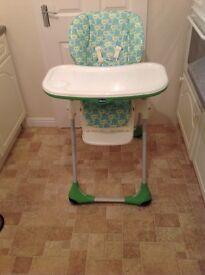 HIGH CHAIR As new top of the range CHICCO POLLY 2in1