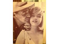 6ft x 4ft Marilyn Monroe and Clark Gable canvas print of a scene from The Misfits