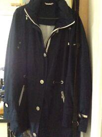 Ladies 14/16 blue showerproof jacket