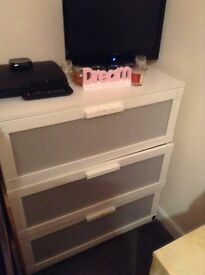 Free... White ikea chest of drawers. Deep and sturdy. Collection only. Quorn.