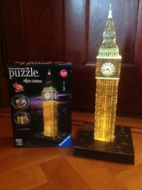 Big Ben 3D puzzle . (Lights up)