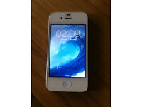 -- IPHONE 4S - 16GB -- SLIGHT CRACK SCREEN GLASS BUT STILL WORKS PERFECT - ON EE