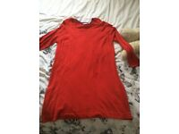 Ladies red long jumper dress size 22