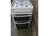 white gas cooker 50cm.....free delivery