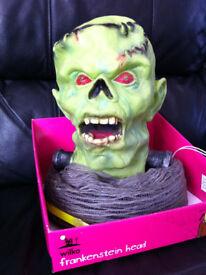Frankenstein Animated Head Halloween Prop