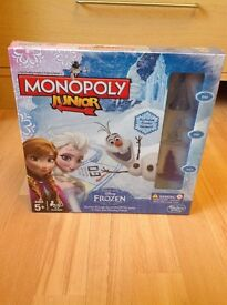 Frozen Monopoly Board game brand new in box puzzle and Disney large Elsa doll with small figures