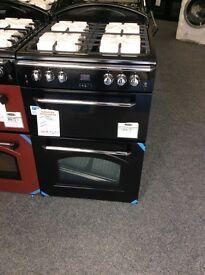 Black leisure gourmet gas cooker new graded 12 mths gtee