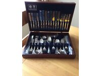 Canteen of Cutlery, Arthur Price Stainless Steel, 8 Place settings, 83 piece. VGC £150