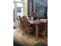 Beautiful table and 6chairs , excellent condition would suit dining room or conservatorY