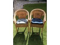 Wicker Chairs (Lloyd loom style) x2