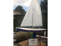 A radio controlled model sailing yacht by Robbe Windstar