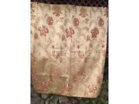 Luxury Lined Gold Brocade Curtains 42W 53D £10 ono