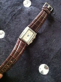 Designer Emporio Armani leather watch