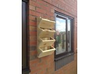 4 TIER POCKET PLANTERS, WALL MOUNTED & FREE STANDING, BESPOKE OPTIONS, 7 COLOURS
