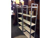 2x shelving units