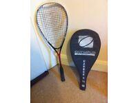 Squash Racket Olympus Neutron Ti and cover. Graphite fusion frame. £12