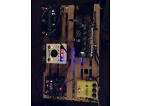 Eventide h9, source audio nemesis, pigtronix infinity and neunaber stereo wet