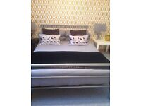 Silver Metal Bed Frame - Double
