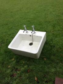Butler sink - with taps