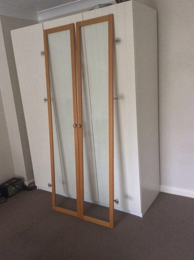 Ikea Billy Bookcase Glass Doors Oak Effect In Basingstoke