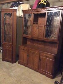 Living room cabinet unit and corner unit