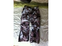 motorcycle trousers camo size 36 worn twice