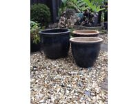 3 SMALL GARDENS POTS £1 EACH