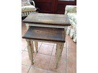 As new nest of two beautiful shabby chic tables