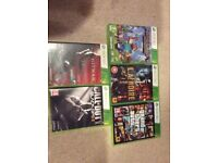 Xbox 360 500GB - 5 Xbox Games - 2 Controllers, 1 With Keyboard