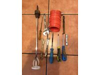 NICE LOT OF HAND TOOLS PLASTERING SCREWDRIVERS WRENCH WELDING