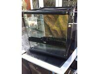 Exo Terra Glass Terrarium Mini Wide 30x30x30cm - used Reptile Housing Vivarium